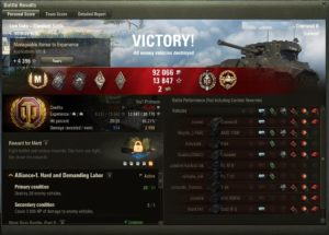 U.K. fast medium tank of our customer, getting Ace and master bades was a task for us :)